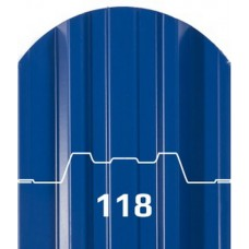 Штакетник металлический Трапеция 118мм.